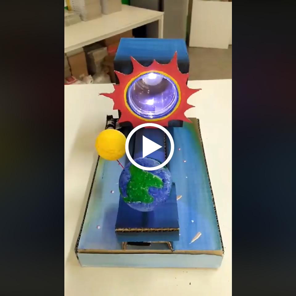 สนุกตื่นเต้นจากงาน DIY ที่จำลองการเกิดสุริยุปราคา หรือ สุริยคราส Solar eclipse